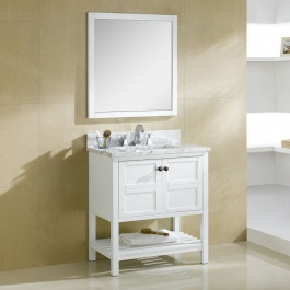 "30"" White Bathroom Vanity"
