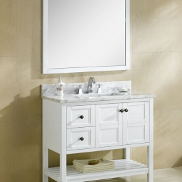 "36"" White Bathroom Vanity"