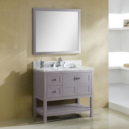 "36"" Gray Bathroom Vanity"