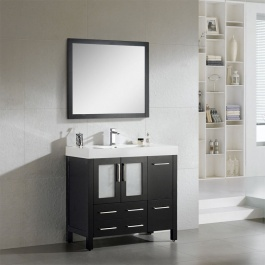 "48"" Espresso Double Sink Bath Vanity"