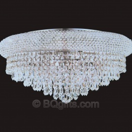 "20"" x 10"" Flush Mount Chandelier"