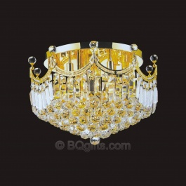 "24"" Flush Mount Crystal Chandelier"