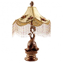 Opulescent Peacock Lamp