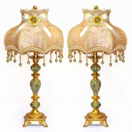 Emerald Table Lamp - Pair