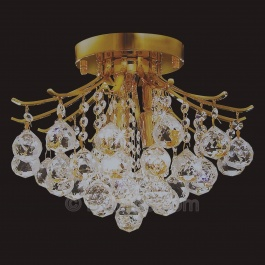 "12"" Flush Mount Chandelier"