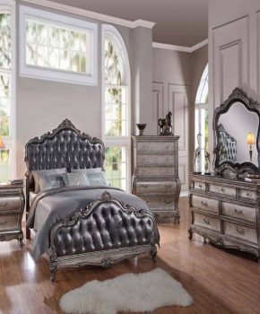 Antique Platinum Bedroom Set