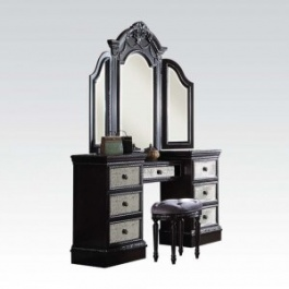 Make-up Vanity, Mirror and Stool