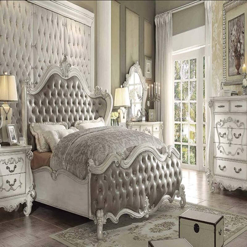 Bedroom Set Versailles Vintage Gray Antique Recreations