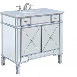 "36"" Mirrored Single Bathroom Vanity"