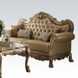 Living Room Set Dresden Gold