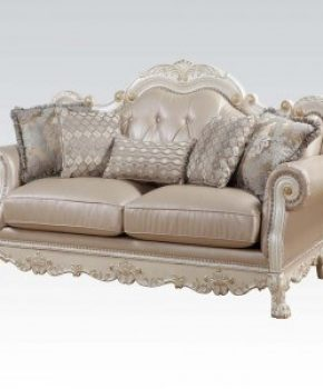Living Room Set Antique White Dresden