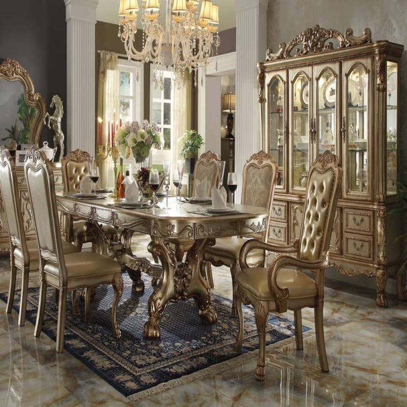 Dining Room Set- Dresden Gold Patina