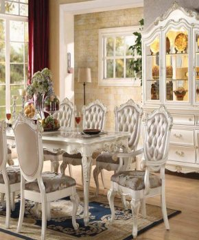 Dining Room Set Pearl Finish - Chantel