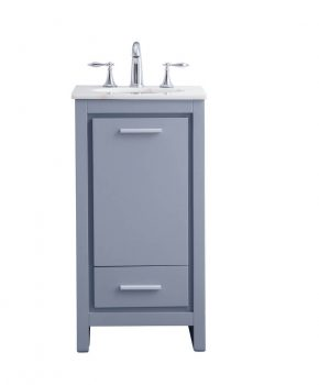 "18"" Grey Bathroom Vanity"
