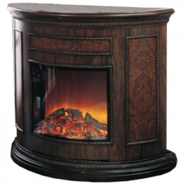 Half Round Fireplace Mantel with Insert
