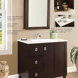 "36"" Walnut Elan Bathroom Vanity"