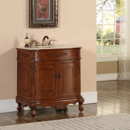 "32"" Kensington Teak Bathroom Vanity"