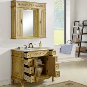"42"" Kensington Tan Bathroom Vanity"