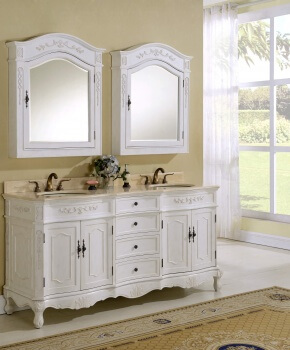 "72"" Kensington Antique White Bath Vanity"