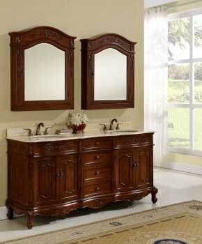 "72"" Kensington Teak Bathroom Vanity"