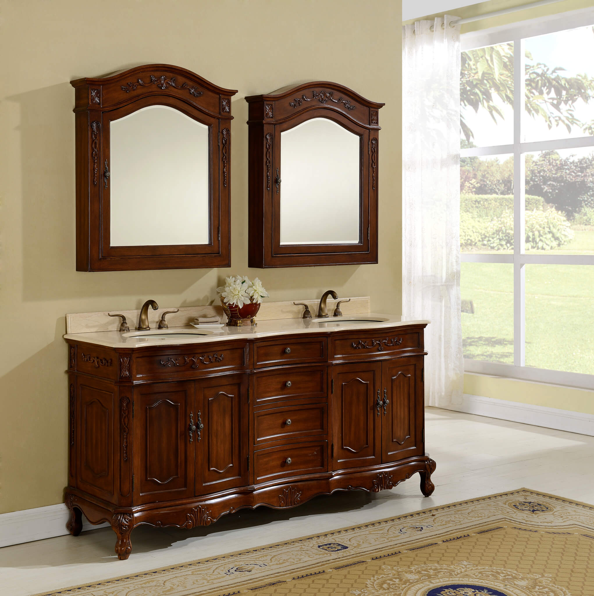 72″ Kensington Teak Bathroom Vanity