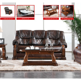 3 pc Castello Leather Living Room Set