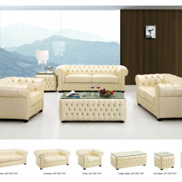 3 pc Leather Living Room Set