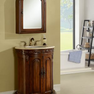 "30"" Teak Bathroom Vanity"