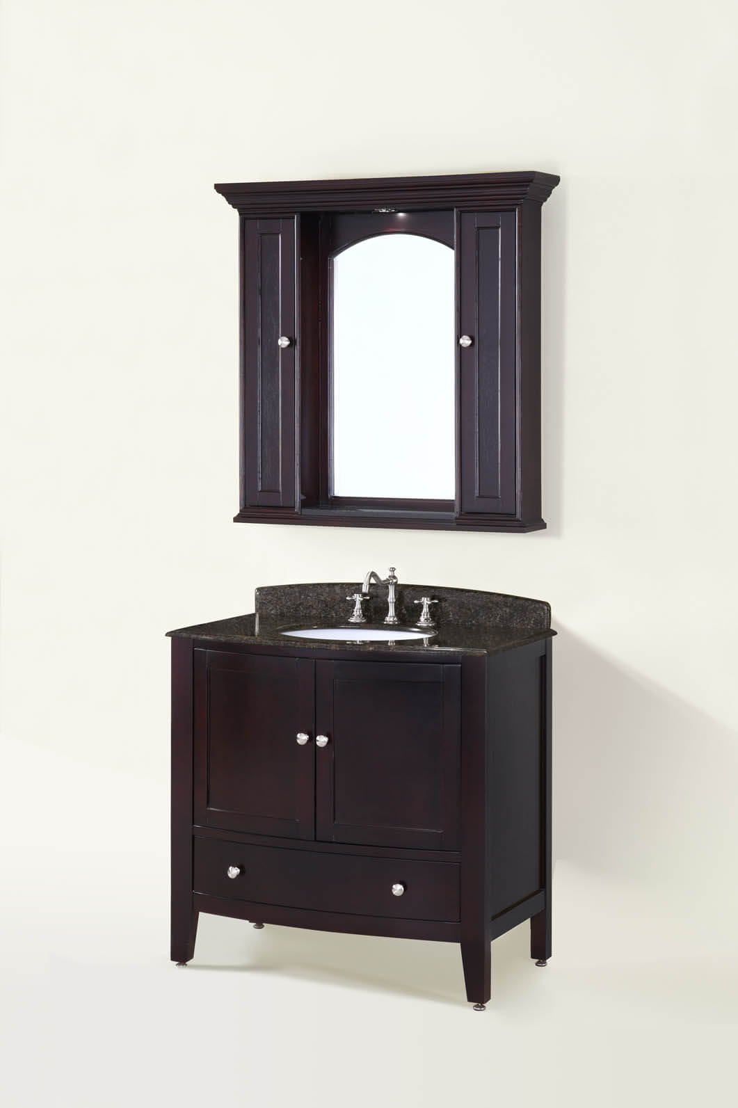 36 soho espresso bathroom vanity antique recreations for Bathroom 36 vanities