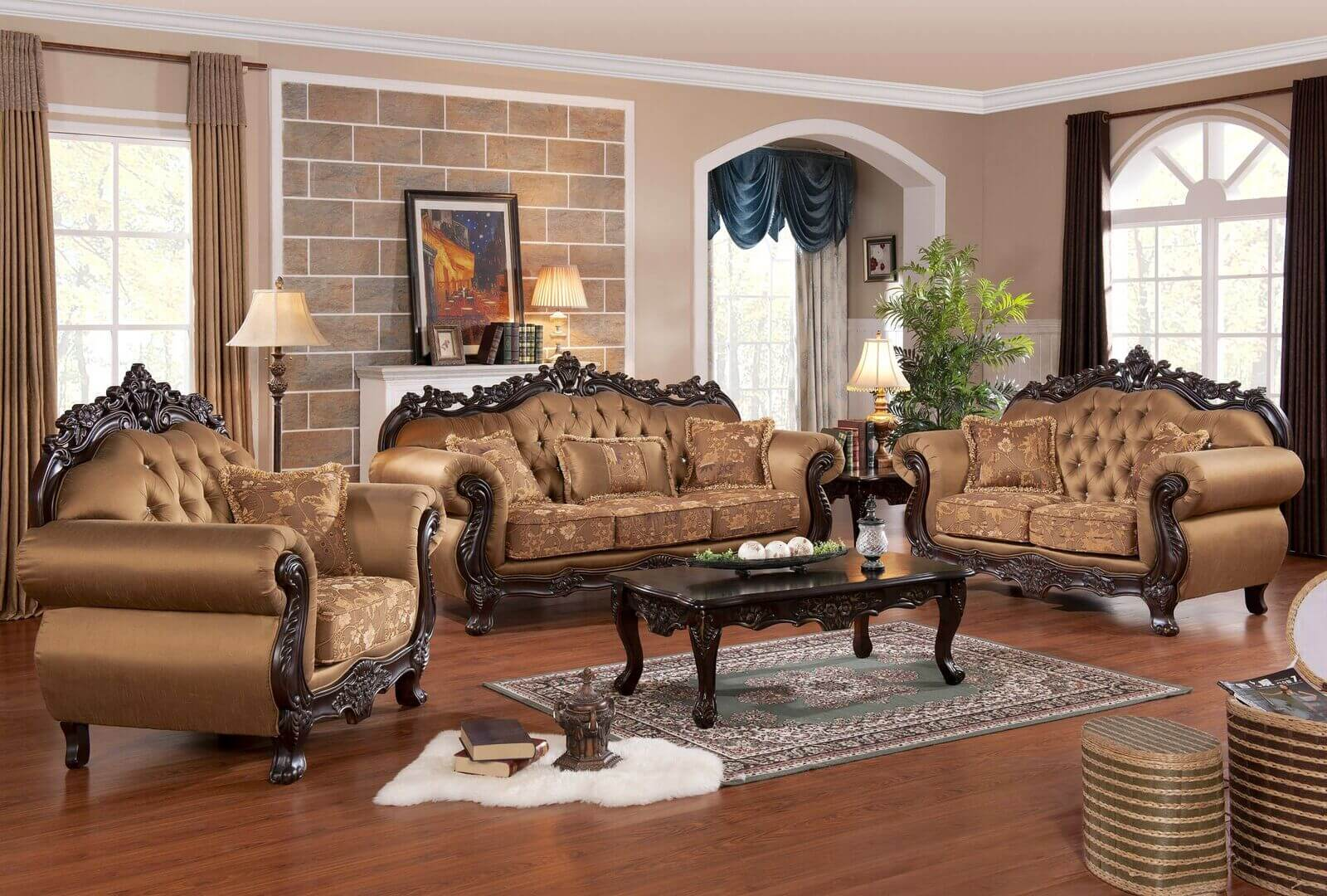 Attirant Sharon 3 Pc Living Room Set