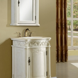 "21"" Antique White Bath Vanity"