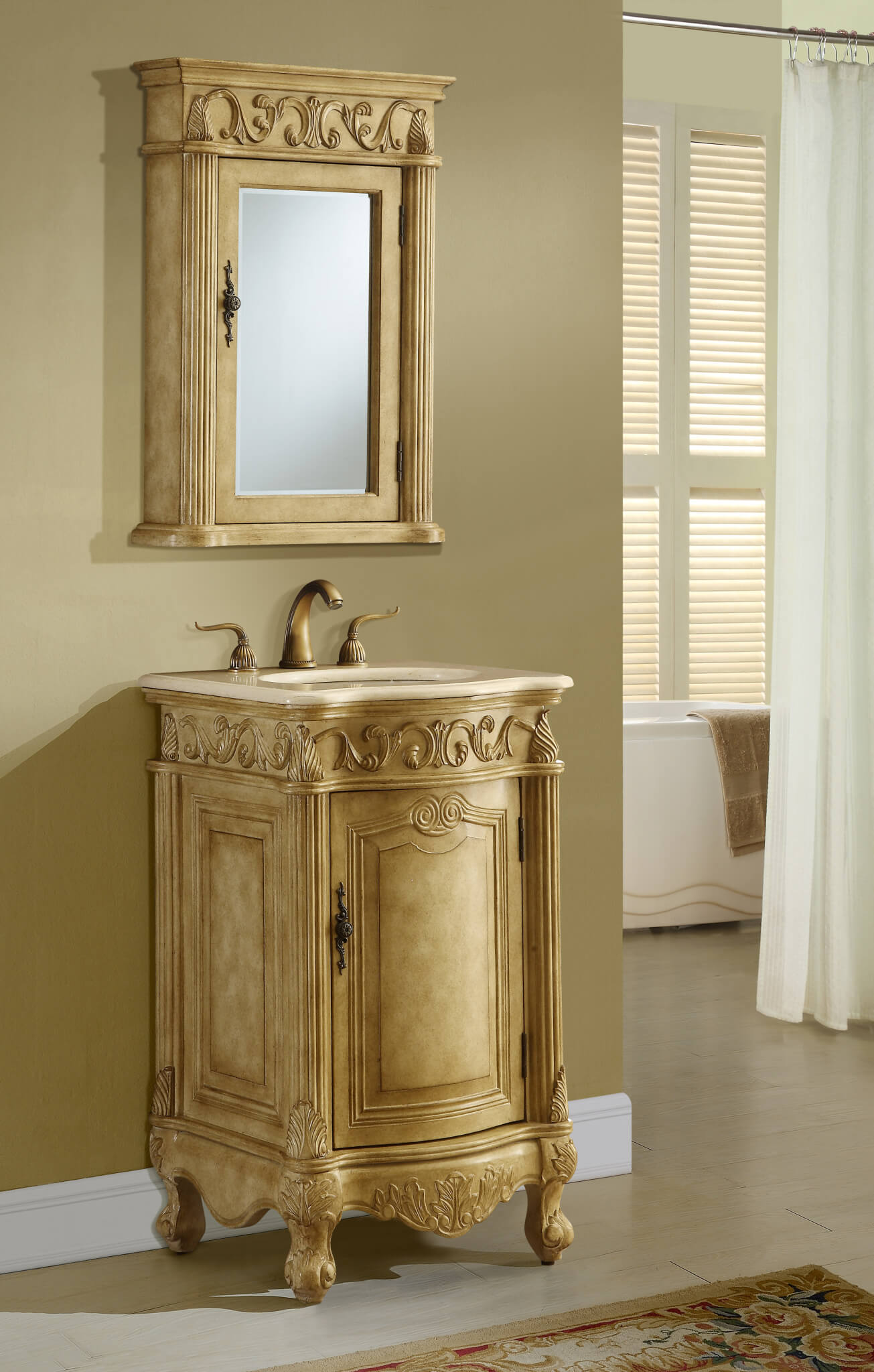 21u2033 Tan Bathroom Vanity