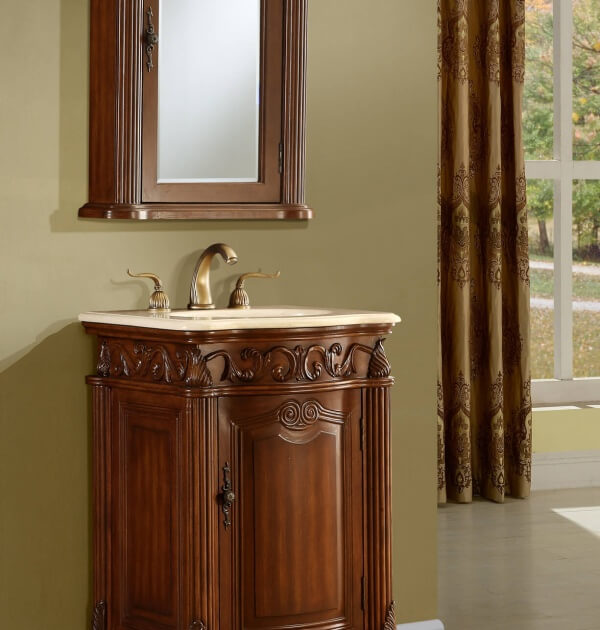 Tuscan bathroom vanities 21 quot tuscany bathroom vanity for Tuscan bathroom vanity cabinets