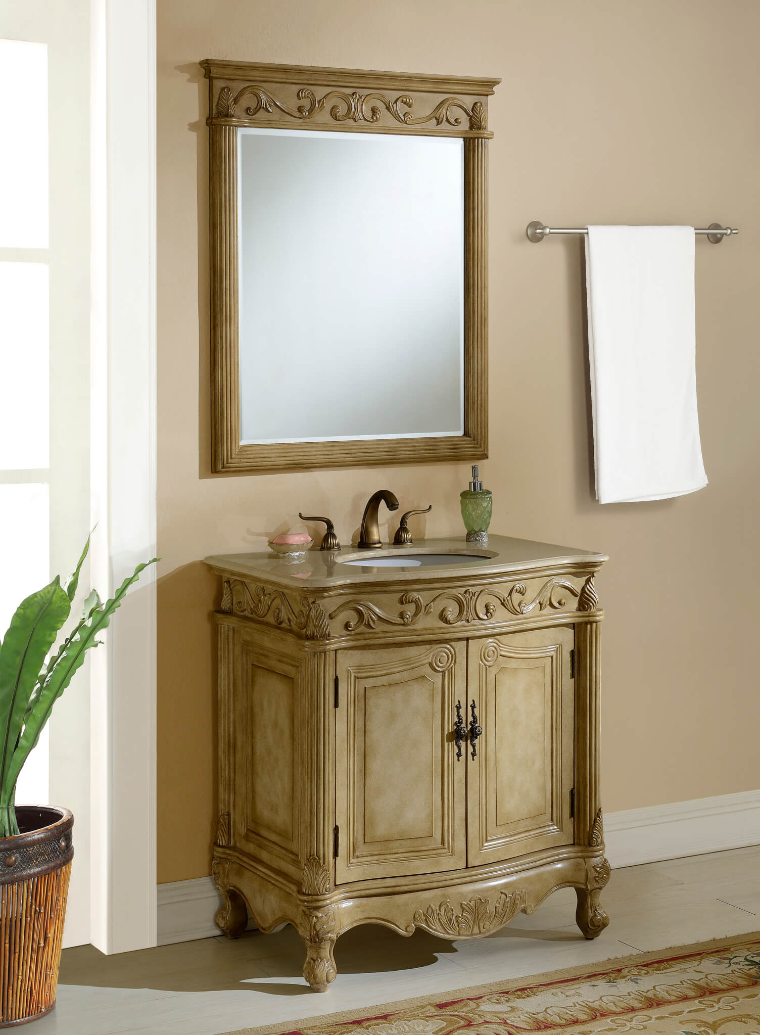 32″ Tuscany Tan Bathroom Vanity