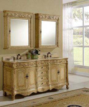 "72"" Tuscany Tan Bathroom Vanity"