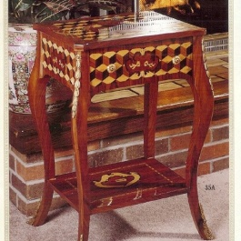 Checkered Inlaid Side Table M105