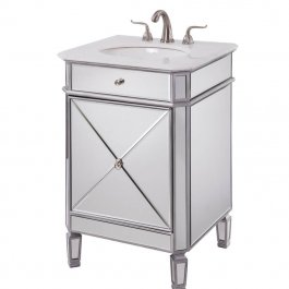 "24"" Mirrored Single Bathroom Vanity"